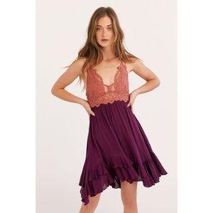 NWT Free People Adella Copper Mini Slip Dress